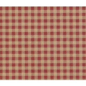 Red Gingham On Kraft Tissue Paper 240 Large Sheets