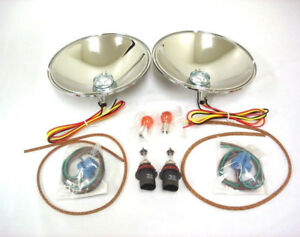1933 1934 Ford Quartz Halogen Headlight Reflector Conversion Kit W Turn Signal