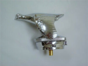 1928 1929 Ford Model A Chrome Thermo Quail Radiator Cap W Thermometer Nice