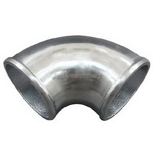 3 Cast Aluminum 90 Degree Elbow Pipe Turbo Polished