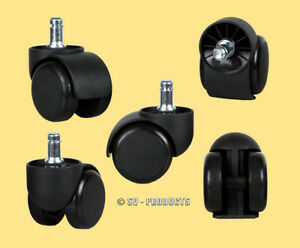 50 Office Chair Casters Soft Roll Rubber Wheels 132