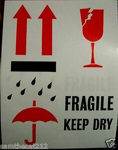 500 3 x4 Arrows Fragile Glass This End Up International Safe Handling Label