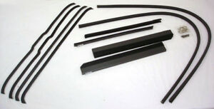 1942 1946 1947 Ford Pickup Truck Window Channel Kit W Seals Bumpers Both Doors