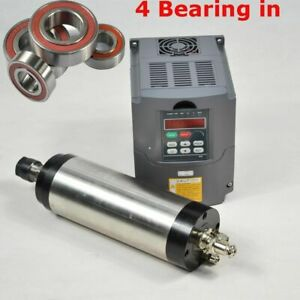 2 2kw Water Coole Spindle Motor Er20 Rpm24000 Inverter Drive For Cnc