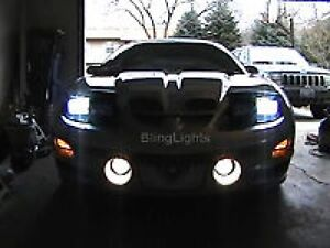 White Halo Angel Eye Fog Lamps Light Kit For 1993 2002 Pontiac Trans Am