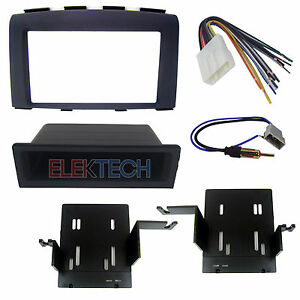 Double Din Radio Replacement Dash Kit Harness Antenna For 2008 2010 Nissan Rogue