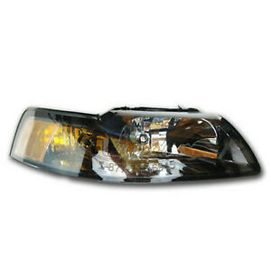 New Oem 2001 2004 Ford Mustang Right Headlight Black Gt Cobra Svt