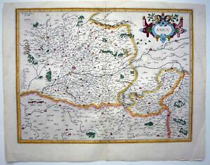 1585 1619 Mercator Map Anjou Angers Very Decorative