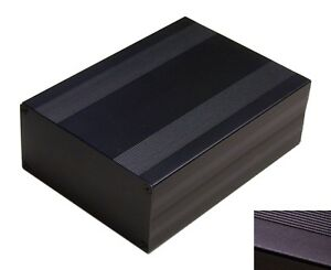 Black Aluminum Project Box Enclosure Case Electronic Diy 203x144x68mm_big