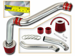Red Cold Air Intake Kit Dry Filter For Honda 94 02 Accord L4 Dx Lx Ex 2 2l 2 3l