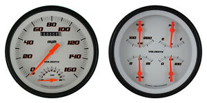 1947 1953 Chevy Gm Pickup Truck Velocity White Gauges Mounting Kit