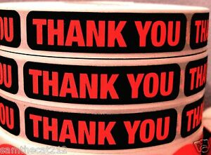 5000 Big Thank You Label Sticker 1 2 X 2 1 4