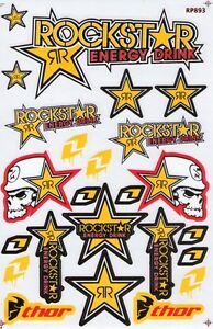 New Rockstar Energy Motocross Atv Enduro Racing Graphic Stickers decals st97