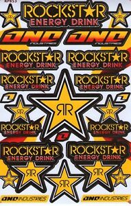 New Rockstar Energy Motocross Racing Graphic Stickers Decals 1 Sheet St76