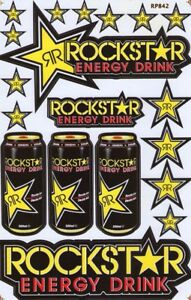 New Rockstar Energy Motocross Racing Graphic Stickers decals 1 Sheet st72