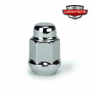 10 Lug Nuts Bulge Acorn 12x1 25 Chrome