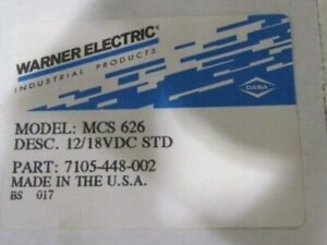 Warner Electric Mcs 626 P n 7105 448 002 New In Box
