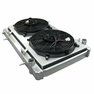 Cxracing Aluminum Radiator Shroud Fan For 95 99 Nissan 240sx S14 Ka24 Tm