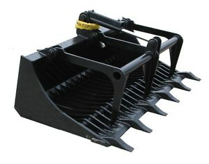 66 Rock Bucket Grapple Tractor Attachment 48 Tong Free Shipping