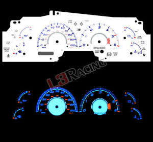 White Face Reverse Indiglo Glow Gauge Mph Kit For 99 03 Ford F 150 Expedition
