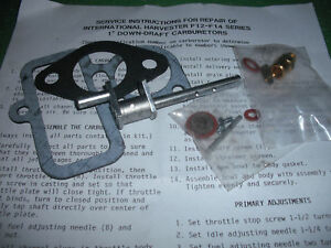 Farmall Mccormick Deeriing Carb Kit F12 F14 Carburetor