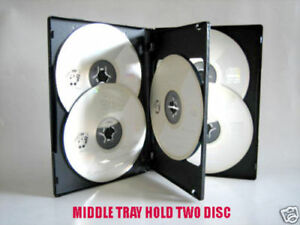 50pcs 14mm 6 Discs Multi Disc Black Cd dvd Case Hold 6 Disc