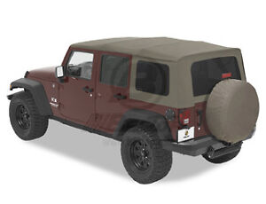 2010 2018 Jeep Wrangler Jk Unlimited Khaki Replacement Soft Top 51204 36