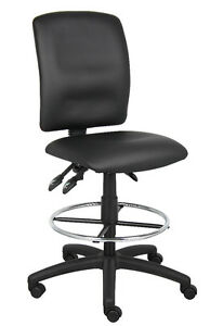 Leather Drafting Stool Chair With Multi function Tilting B1645