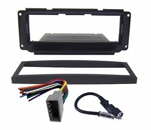 Radio Replacement Dash Mount Kit 1 Din W Harness Antenna For Chrysler Dodge Jeep