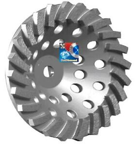 7 X24 Seg Spiral Turbo Diamond Cup Wheel Concrete block masonry Grinding 5 8 11