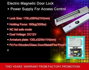 180kg 300lbs Dc12v Holding Force Electric Magnetic Door Lock With Power Supply