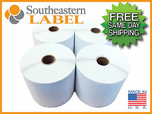 4x6 Direct Thermal 4 Rolls 450 A Roll 1 800 Zebra 2844 Eltron Free Shipping