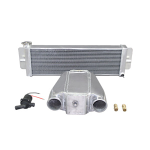 Cxracing 12 Liquid Water To Air Intercooler Heat Exchanger Water Pump