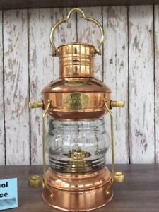 Copper Anchor Oil Lamp Nautical Maritime Ship Lantern Boat Light