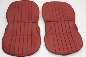 Porsche 356 A b c Leather Front Seat Cover Set For Coupe Cabriolet Roadster