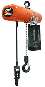 Cm Lodestar 3154nh Electric Chain Hoist Model F 1 2 Ton 20 Ft 460v