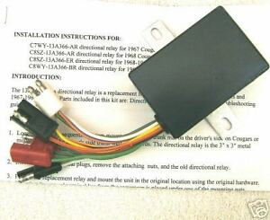 T20 Early 1969 Ford Thunderbird Directional Relay Made Pre 10 14 1968 Sequencer
