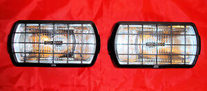 2 X New Ring Rl022g Rectangular Driving Spot Lights With Stone Guards