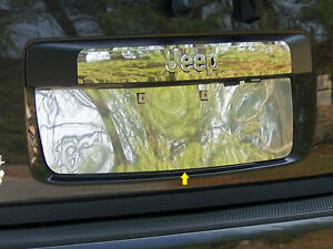 2008 2012 Jeep Liberty 1pc Stainless Steel License Plate Insert