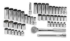 Sk 47pc 3 8 Drive 12 Point Socket Ratchet Set Sae And Metric Usa 94547 12