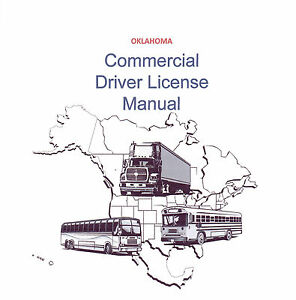COMMERCIAL DRIVER'S MANUAL FOR CDL TRAINING (OKLAHOMA) ON CD IN PDF PROGRAM. $12.95