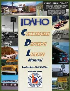 COMMERCIAL DRIVER MANUAL FOR CDL TRAINING (IDAHO) ON CD IN PDF PROGRAM. $12.95