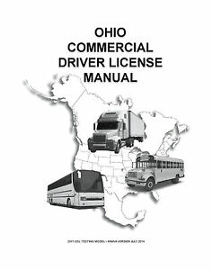 COMMERCIAL DRIVER'S MANUAL FOR CDL TRAINING (OHIO) ON CD IN PDF PROGRAM. $12.95