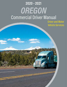 COMMERCIAL DRIVER'S MANUAL FOR CDL TRAINING (OREGON) ON CD IN PDF PROGRAM. $12.95