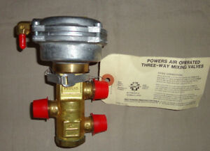 Powers Controls 656 0009 Mixing Valve Three way 656 Siemens Air Operated New