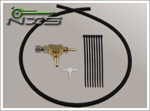 Nxs Manual Boost Controller Complete Kit Silicone Vacuum Hose Turbo Black