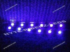 Purple 5050 Smd Led Strips Pair Of 6 Inch Strips Fits Cars Motorcycles Boats