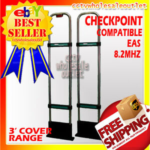 Checkpoint Compatible Eas Security System Double Antenna Anti Theft Shop Lift