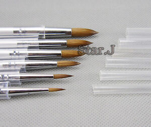 6pcs New Dental Lab Porcelain Ceramic Ermine Brush Pen Set