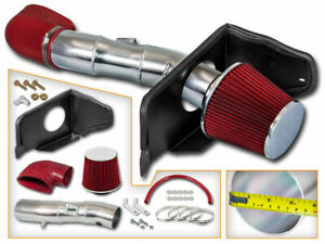 05 09 Mustang Gt 4 6 V8 Cold Air Induction Intake Kit Red Dry Filter